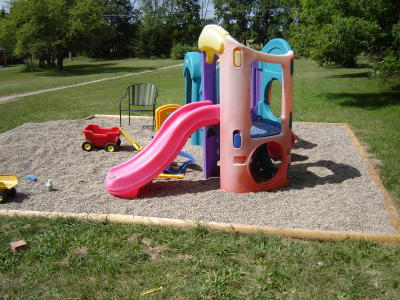 A Gravel Play Area Pea Surface For Playgrounds Sets